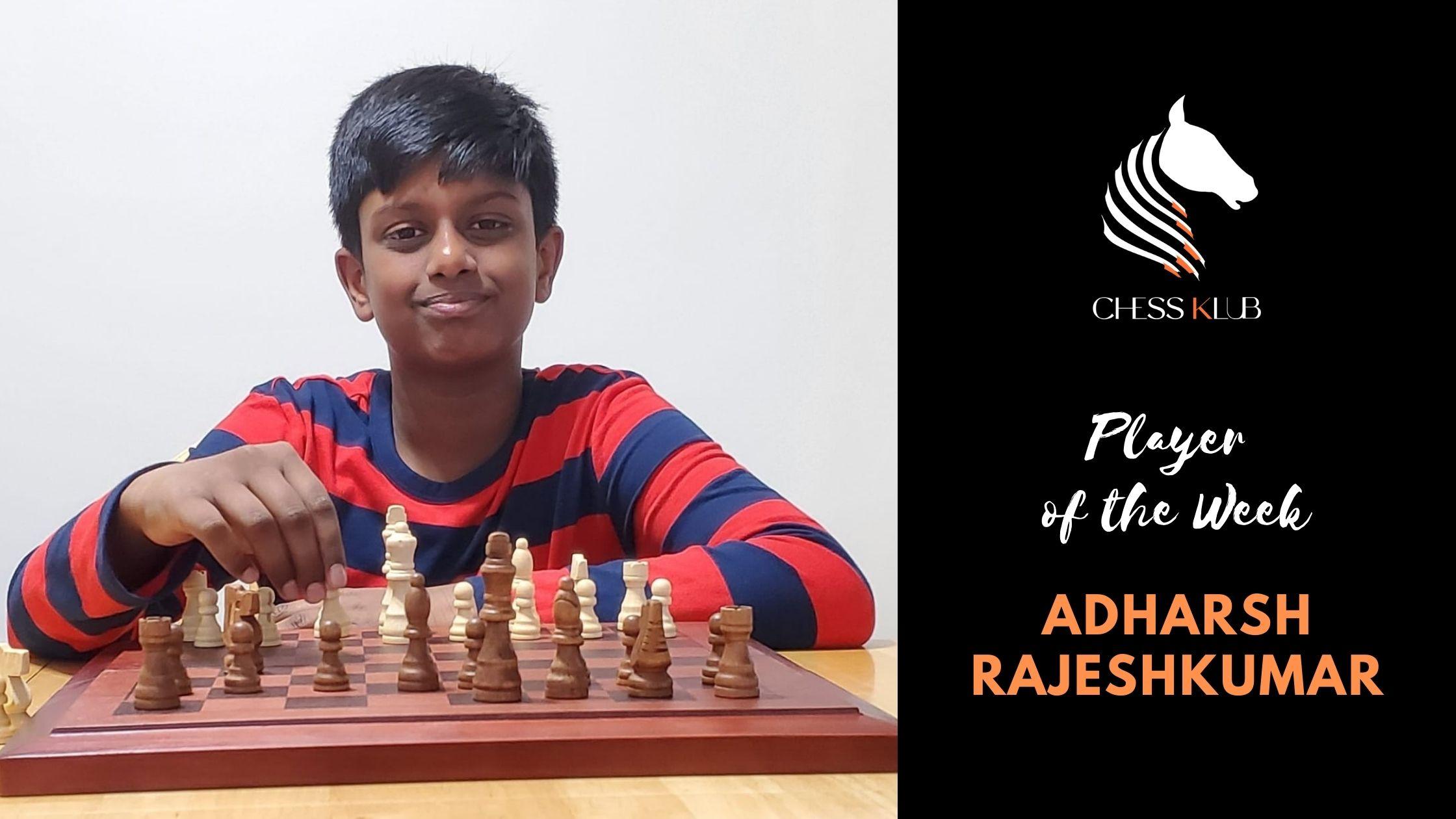 Adharsh Rajeshkumar - Player of the Tournament